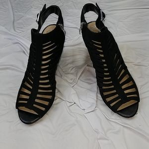 New Vince Camuto black cage sandals